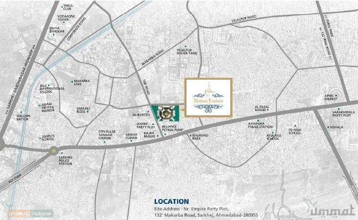 hateem enclave 2  u0026 3 bhk luxurious flats in juhapura sarkjej ahmedabad